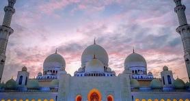 Różowe niebo w Emiratach Arabskich